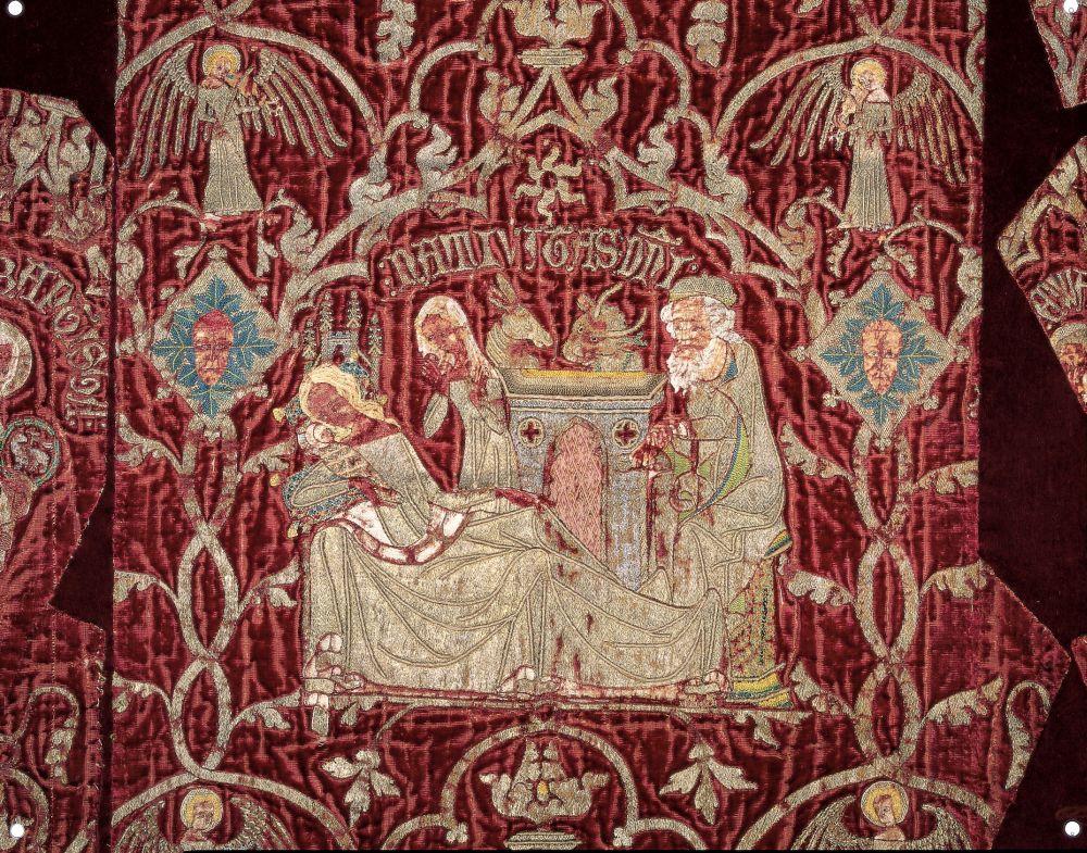 La Nativitat a la capa pluvial del bisbe Ramon de Bellera. Tercer quart del segle XIV. MEV 1430.