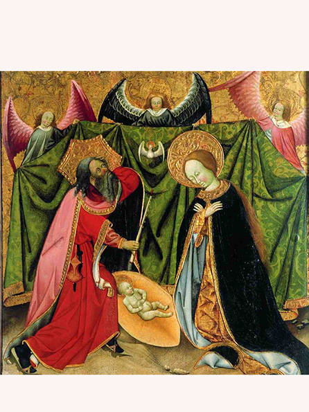 La Nativitat al retaule de Santa Maria de Verdú. Jaume Ferrer, 1432-1434. MEV 1774