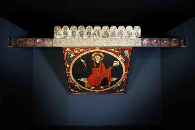 El Baldaquí de Tost, reunit a l'exposició «El Cel Pintat» (MEV 2008)