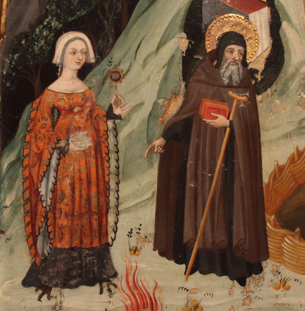 Lluís Borrassà. La temptació carnal. Primer quart del s. XV. Provinent de Santa Maria de Rubió (MEV 949)