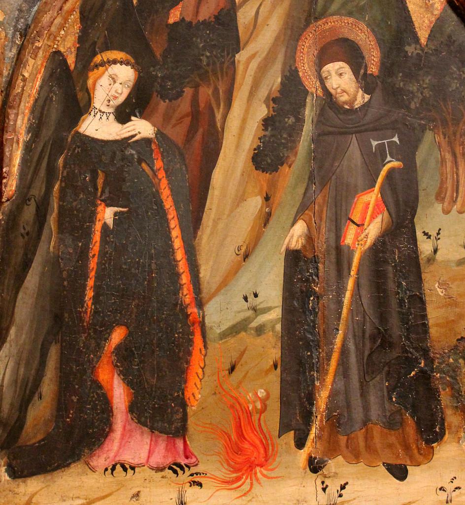 Lluis Borrassà, La temptació de la luxúria. Primer quart del s. XV. Provinent de Santa Margarida de Montbui (MEV 788)