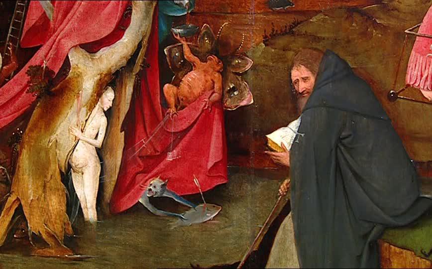 """Hieronymus Bosch """"El Bosco"""" Les temptacions de Sant Antoni Abat"""" (detall), 1500-1505. Museu  Nacional d'Art Antic de Lisboa"""