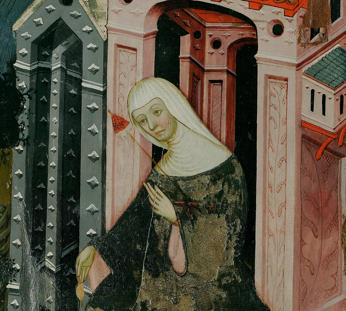 Ramon de Mur. Retaule provinent de Santa Maria de Guimerà (detall). Lleida, 1402-1412