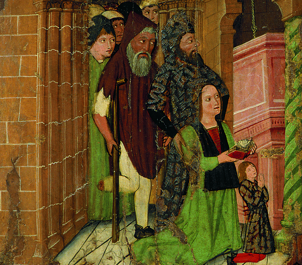 Retaule dedicat a sant Llorenç provinent de Preixana (detall). Escola de Lleida, c.1450-1500