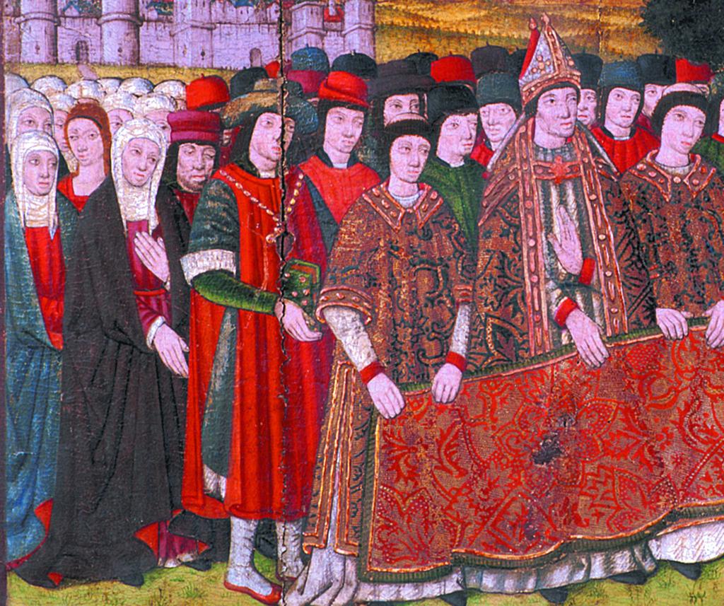 Francesc Solives. Retaule dedicat a la Mare de Déu provinent del santuari de la Mare de Déu de la Bovera (detall). Lleida, 1481