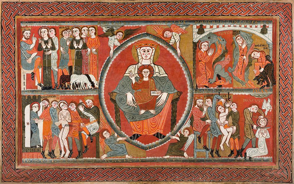 Frontal d'altar de Santa Margarida de Vila-seca (Osona). Últim quart del segle XII. Museu Episcopal de Vic.