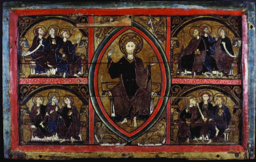 Frontal d'altar de Heddal, Telemark, Noruega. c. 1250. Museu d'Història Cultural de la Universitat d'Oslo.