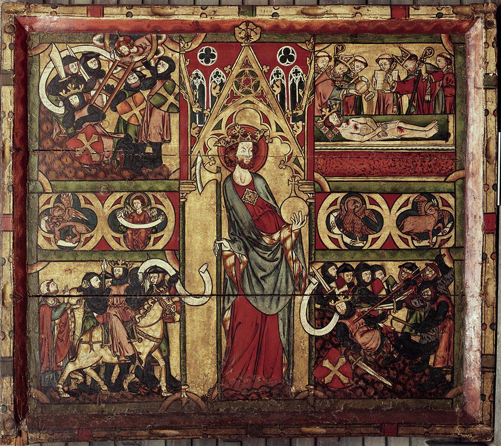 Frontal d'altar de Sant Olaf. Trondheim, ca. 1300. Catedral de  Nidaros (Trondheim),  Museet Erkebispegården