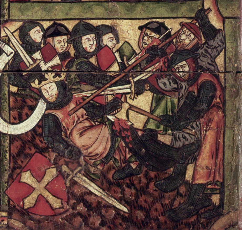 Detall de l'escena de la mort de Sant Olaf en batalla