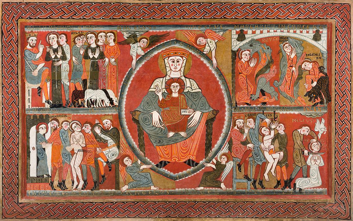 Frontal d'altar de Santa Margarida de Vila-seca. Tallers de Vic, últim quart del s.XII;