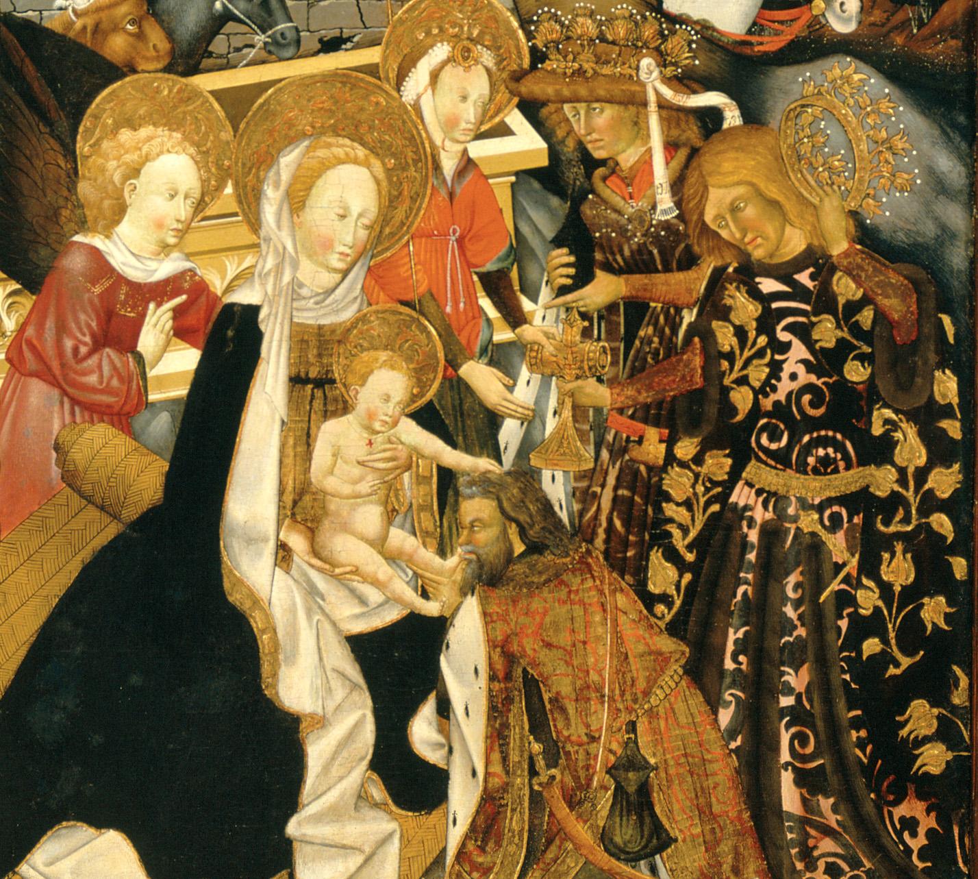 Jaume Ferrrer II. L'Adoració dels Reis Mags. Retaule de Verdú. Escola lleidatana, entre 1432 i 1434.