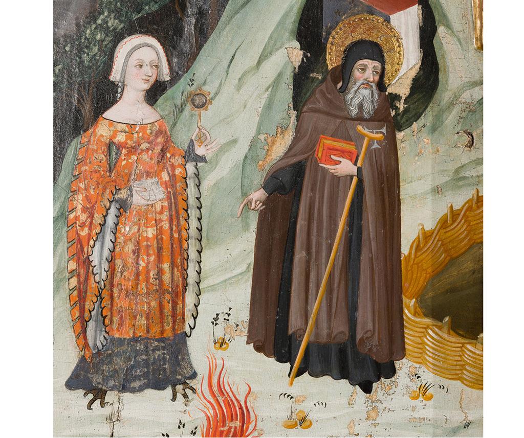 Lluís Borrassà. La temptació carnal de Sant Antoni. Retaule provinent de Santa Maria de Rubió, primer quart del segle XV