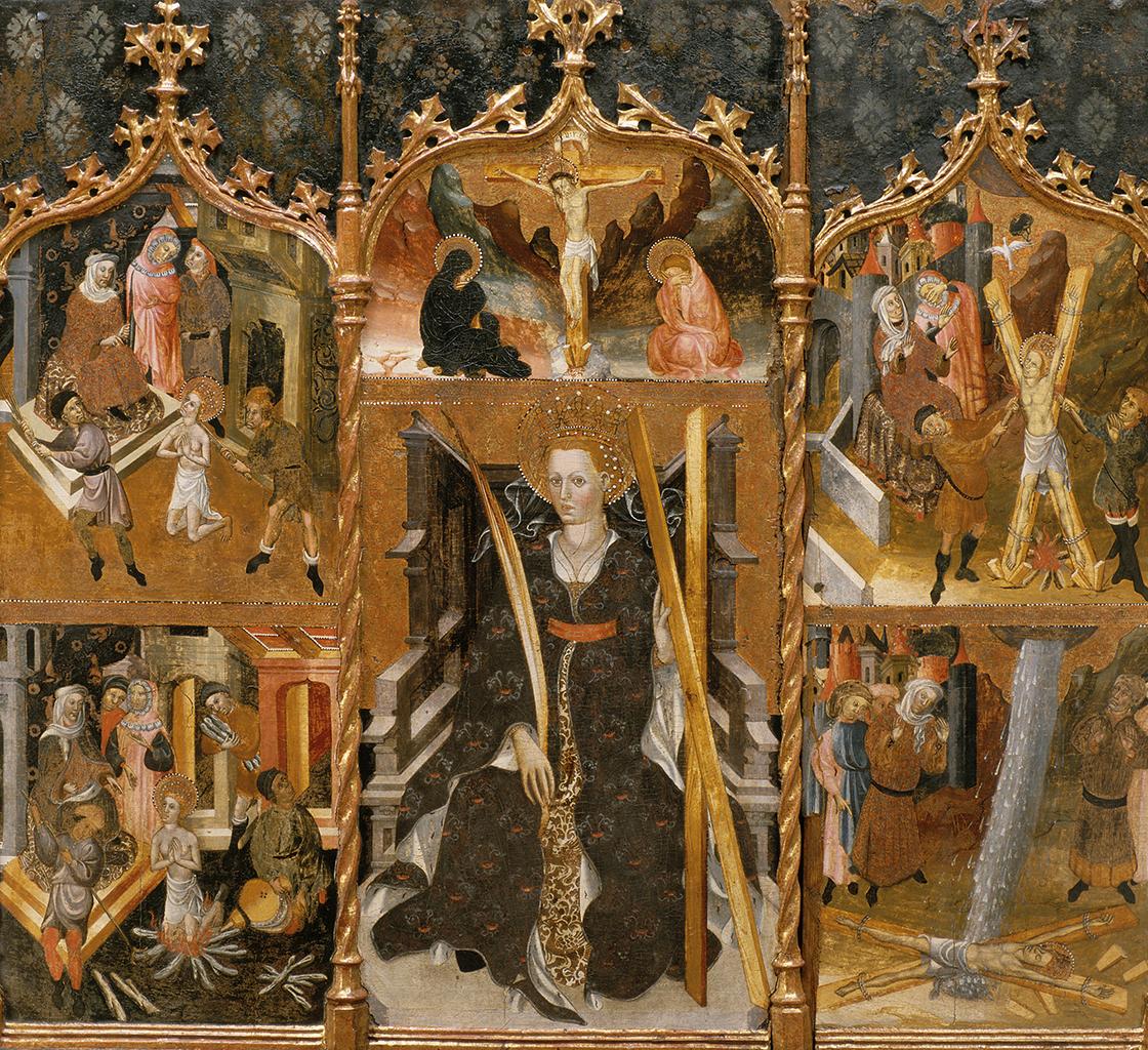 Bernat Despuig i Jaume Cirera. Retaule de Santa Eulàlia de Pardines. Escola barcelonina, 1426 i 1442