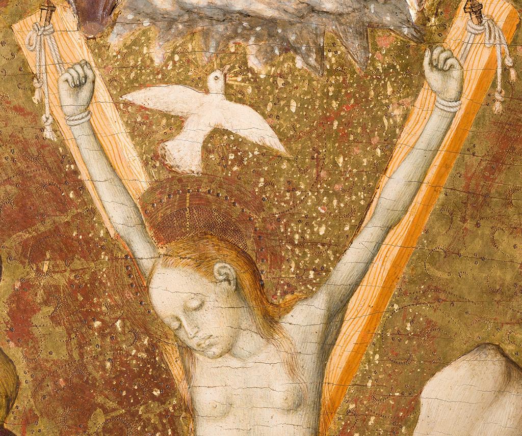 Bernat Martorell. Santa Eulàlia i el miracle de la neu. Compartiments d'un retaule probablement provinent de la Catedral de Vic, 1427-1437