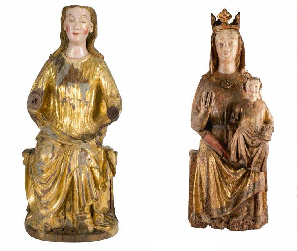 Marededeu amb el Nen de la catedral d'Aquisgrà (Alemanya), segle XIII.