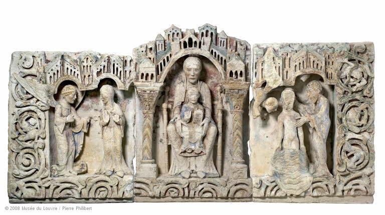 Retaule de pedra de Carrières-sur Seine, segle XII. París, Musée du Louvre
