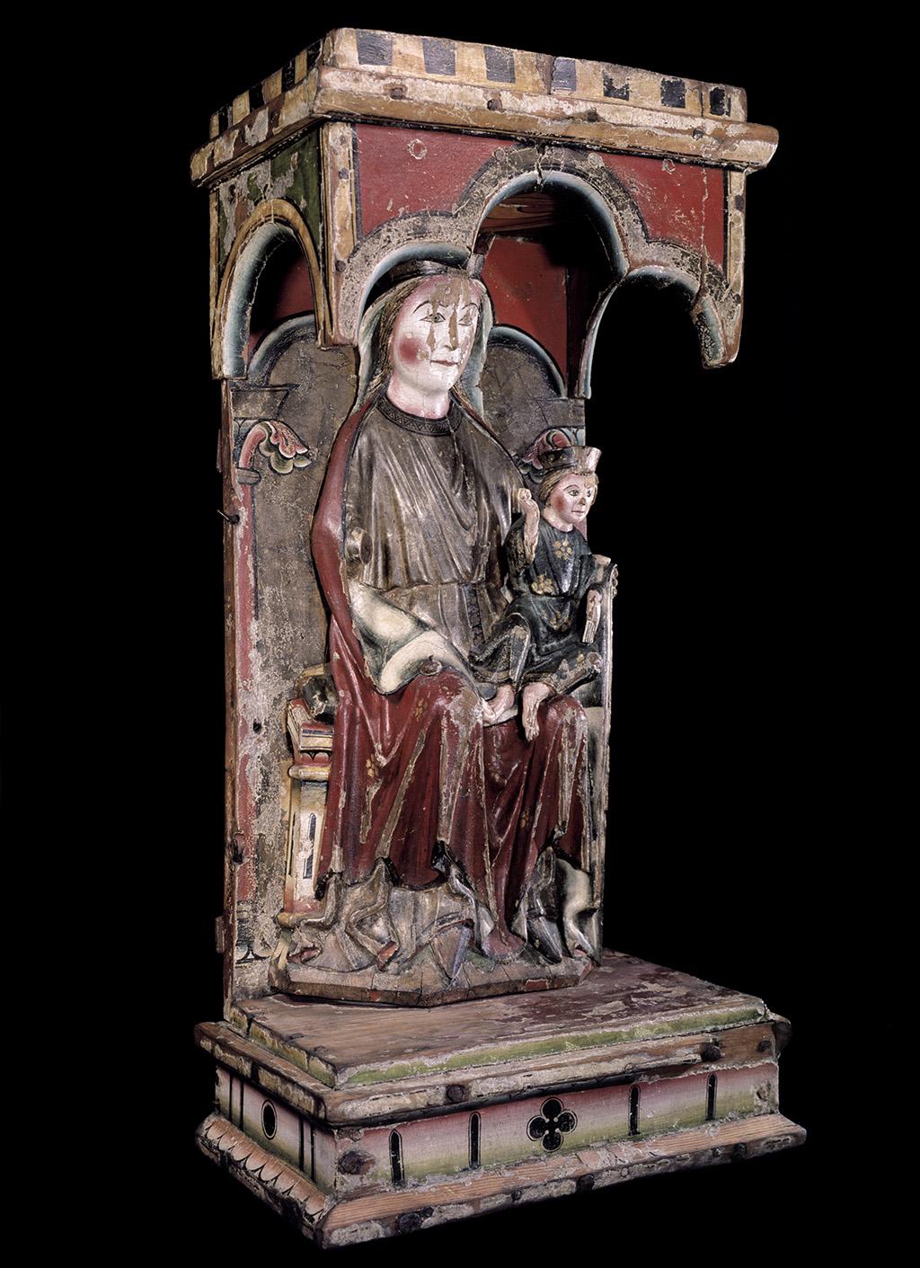 Marededeu de Dal, 1250-1260. Museu de la Universitat d'Oslo