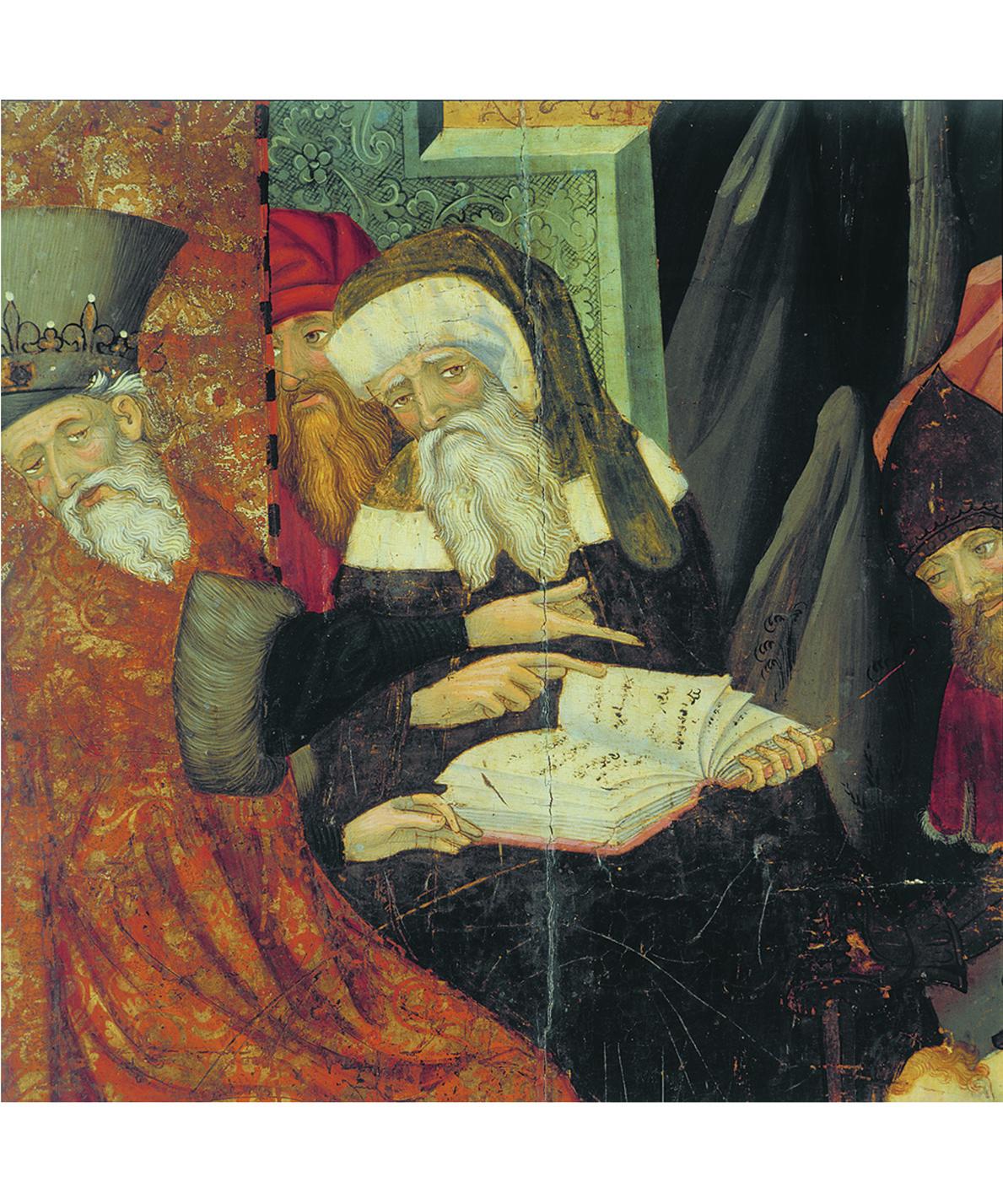 Lluís Borrassà. Detall matança dels innocents. Retaule d'advocació franciscana provinent del convent de Santa Clara de Vic. Barcelona, entre 1414 i 1415