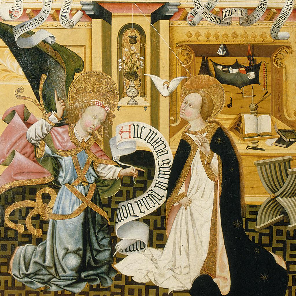 Jaume Ferrer II. Anunciació. Retaule de Verdú. Escola lleidatana, 1432-1434