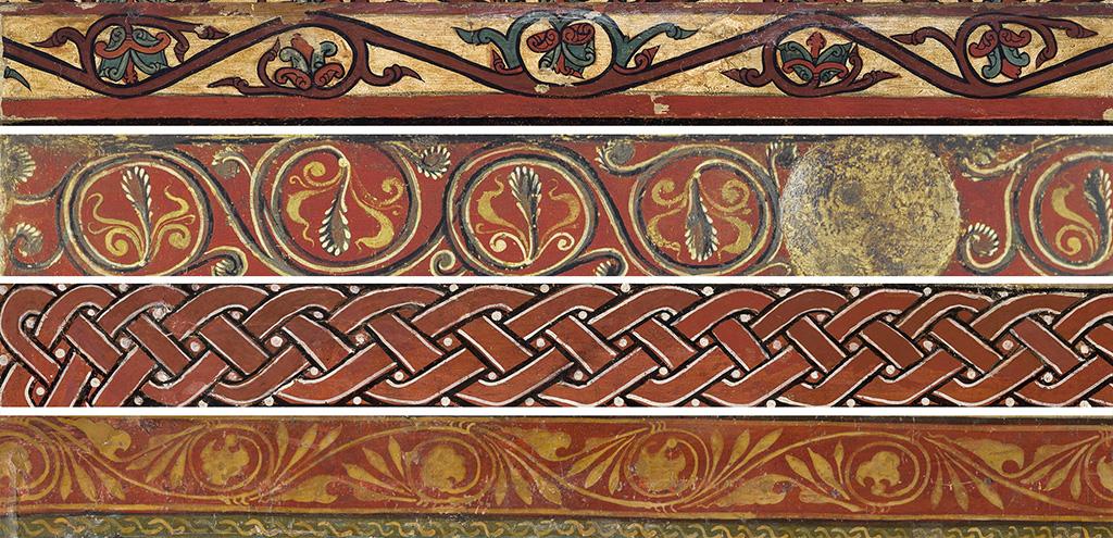 Detalls de sanefes de frontals d'altar del MEV
