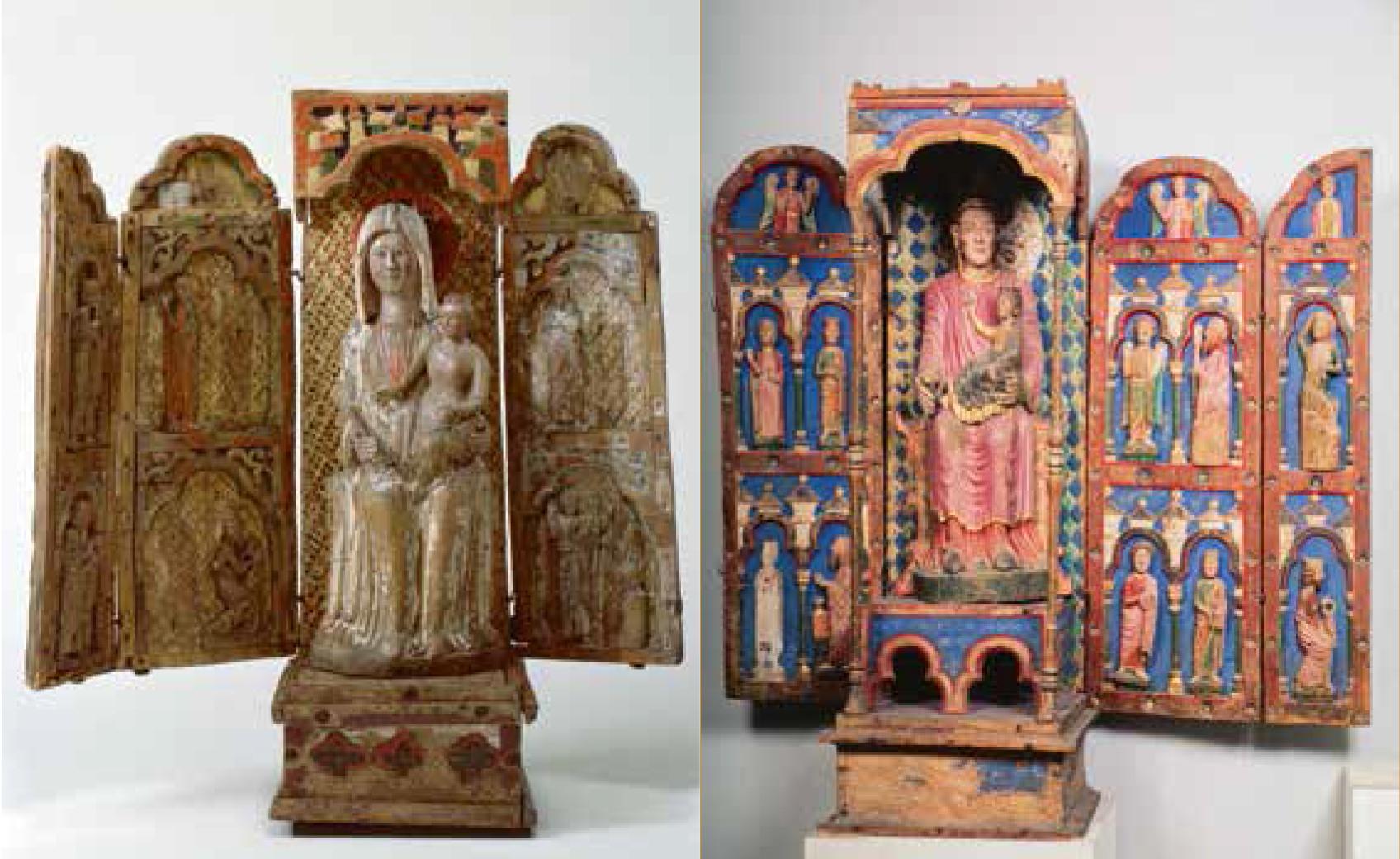 Els retaules-tabernacle de Fröskog (Suècia, avui a Estocolm, Statens Historiska Museet) i Urjala (Finlàndia, avui a Helsinki, Museu Nacional), de la segona meitat del segle XIII.