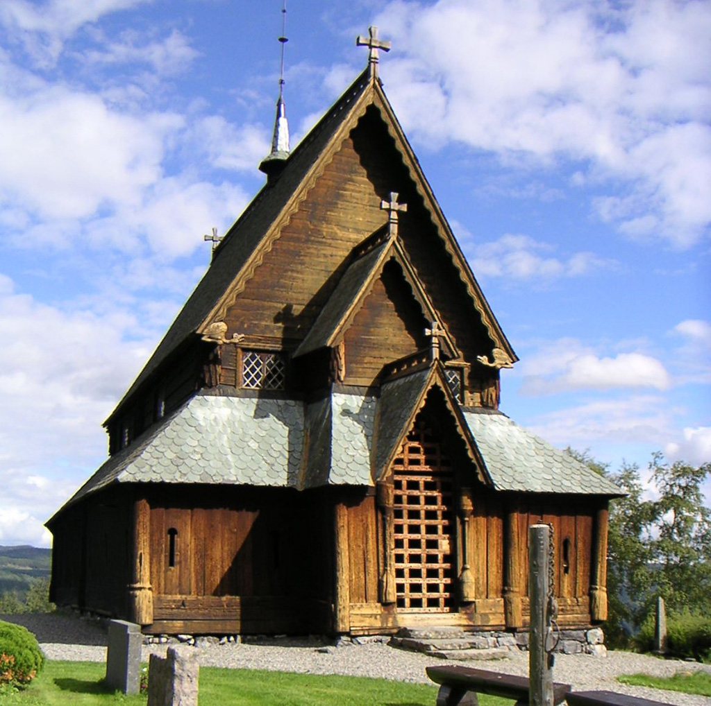 L'església de fusta o stavkirke de Reinli (Oppland, Noruega) va ser construida al segle XIII. John Erling Blad (jeb). Wikipedia. Creative Commons