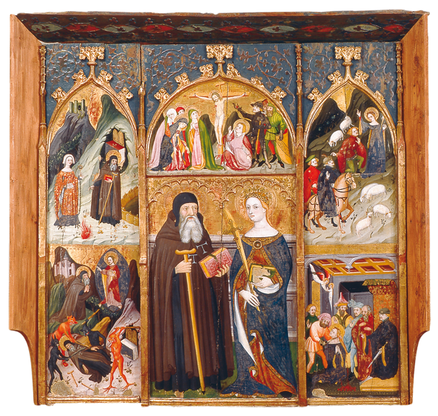 altarpiece dedicated to saint anthony and saint margaret