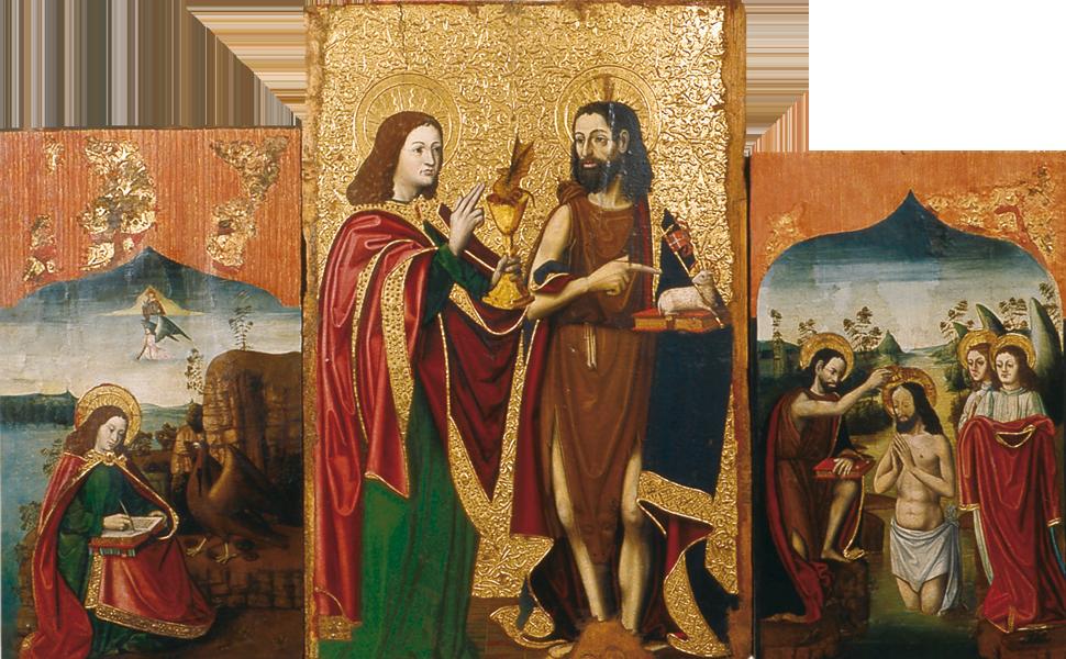 Compartiments del retaule major de Sant Joan de Fàbregues